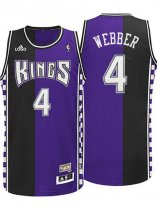 Chris Webber Sacramento Kings #4 Hardwood Classic Fashion Swingman Road Purple Jersey For Sale