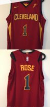 Cleveland Cavaliers rose 1 red basketball jersey
