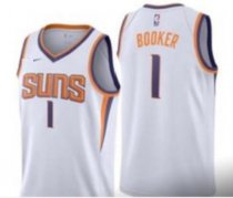 SUNS BOOKER 1 WHITE BASKETBALL JERSEY