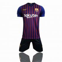 2eb091662c4 18/19 Adult Barcelona Home Soccer Uniform Men Football Jersey Wholesale  Custom Name uniforme de