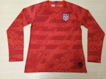 19-20 Men American Home red Thai version  Long sleeve Soccer Jersey