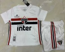 19-20 AAA Quality Sao Paulo kid White Soccer uniforms