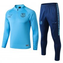 2018/19 men Barcelona blue Soccer tracksuit trainning suit