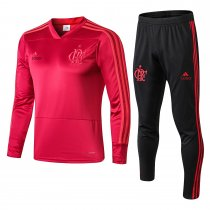 2018/19 Men Flamengo red V collar Adult Soccer tracjsuit trainning suit