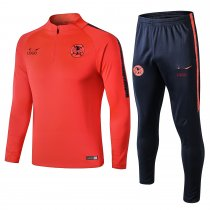 2018/19 Men Cougar Orangen red long sleeve Soccer tracksuit trainning suit