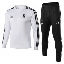 2018/19 Adult juventus white long sleeve soccer tracksuit trainning suit