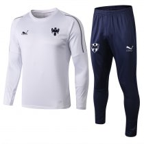 2018/19 Adult Monterrey white long sleeve Soccer tracksuit trainning suit