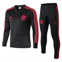 2018/19 adult Flamengo balck long sleeve Soccer tracksuit trainning suit