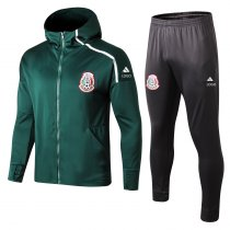 2018-19 Men Mexico green long sleeve Soccer hoodie jacket tracksuit