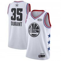 19 Adult All Star Durant 35 White Basketball Jersey