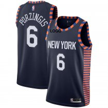 Adult New York Porzingis 6 Basketball Jersey Sport Shirt