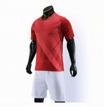 19-20 AAA Quality blank styles red Adult Socce uniforms