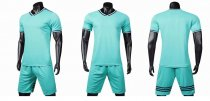 19-20 AAA Quality blank styles light green men Socce uniforms