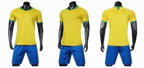 19-20 AAA Quality blank styles yellow Adult Socce uniforms