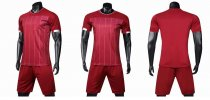19-20 AAA Quality blank version red Adult Socce uniforms
