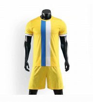 19-20 AAA Quality blank version yellow Adult Socce uniforms