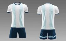 19-20 AAA Quality blank version light blue men Socce uniforms
