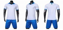19-20 AAA Quality blank styles white Men Socce uniforms