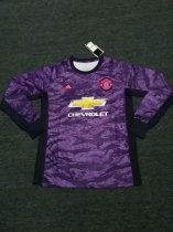 19-20 Adult fan version Manchester United Goalkeeper long sleeve Soceer jersey