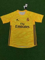 2019/20 Adult fan version real madrid yellow Goalkeeper soccer jersey