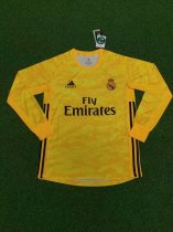 2019/20 Adult fan version real madrid yellow Goalkeeper long sleeve soccer jersey