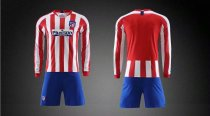 19/20 AAA Quality wihout logo Adult Atletico long sleeve soccer/football uniforms/kits