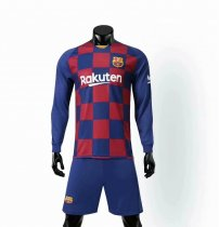 19-20 AAA Quality wihout logo men Barcelona long sleeve soccer uniforms