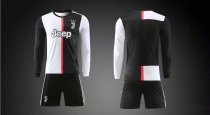 19/20 AAA Quality wihout logo Adult juventus long sleeve soccer/football uniforms/kits