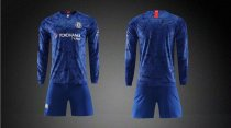 19/20 AAA Quality wihout logo Adult chelsea long  sleeve soccer/football uniforms/kits