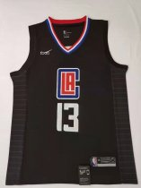 2019/20 Adult Los Angeles Clippers 13 GEORGE balck basketball jersey
