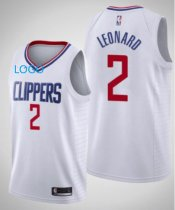 2019/20 Adult Los Angeles Clippers 2 LEONARD white basketball jersey