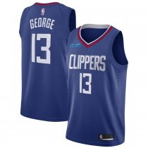 2019/20 Adult Los Angeles Clippers 13 GEORGE blue basketball jersey
