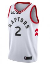 19/20 men Toronto Raptors LEONARD 2 white basketball jersey