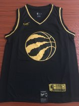 19/20 men Toronto Raptors LEONARD 2 balck gold basketball shirt