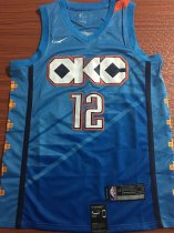 2019/20 men Oklahoma City Thunder ADAMS 12 blue basketball jersey