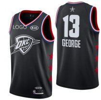 19/20 men All-Star Rookie Jersey Oklahoma City Thunder GEORGE 13 balck basketball shirt