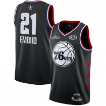 2019/20 Adult All-Star Rookie Jersey Philadelphia 76ers EMBIID 21 balck basketball shirt