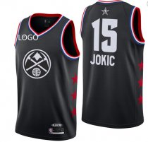 19-20 Adult All-Star Rookie Jersey joklc 15 balck basketball shirt