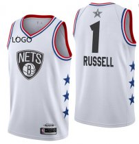 2019/20 Adult All-Star Rookie Jersey Brooklyn Nets russell 1  white basketball shirt