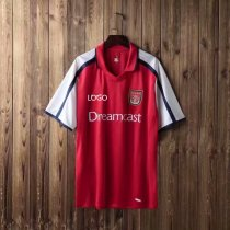 2000 Adult fan version Arsenal home retro soccer/football shirt