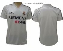 04-05 Adult thai quality real madrid home white retro soccer jersey football shirt Fútbol