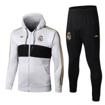 19/20 men hoodies jacket real madrid white soccer uniforms football kits
