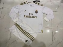 19-20 Real Madrid Home Kid Long Sleeve Soccer Uniforms