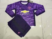 19-20 Manchester United Kid Long Sleeve Soccer Uniforms