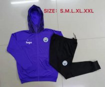19-20 Men Manchester City purple Soccer jacket with hoodies football kits