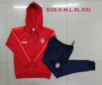 19-20 Men Bayern red Soccer jacket with hoodies football kits