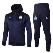2019/20 Men Marseille Royal blue Soccer jacket with hoodies football kits