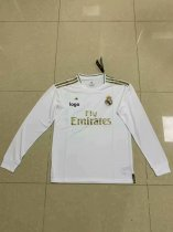 2019/20 Fan Version adult real madrid long sleeve white soccer jersey football shirt