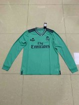 19-20 Thai Quality adult real madrid long sleeve white soccer jersey football shirt