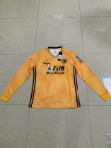 19/20 Thai quality adult Wolverhampton Wanderers long sleeve white soccer jersey football shirt